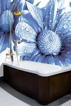 my fav!! Mosaic Bathroom Tiles with Cool Images by Glassdecor | DigsDigs