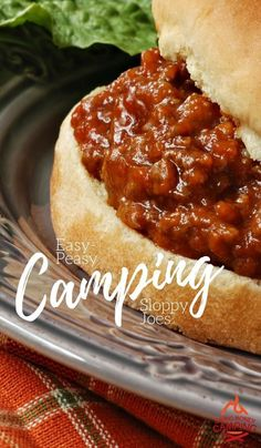 It doesn't get any easier than this: a camping hack this will make packing the coolers easier + and easy recipe for Camping Sloppy Joes!