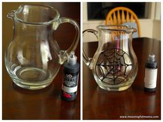 Spider Web Pitcher | Add red Koolaid for Spiderman Superhero Party or good for Halloween food ideas
