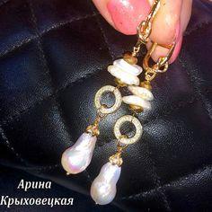 #ручнаяработа #жемчуг #опалит #жемчугКеши #жемчугБива #жемчугБарочный #фурнитура18К  #трансформер #браслет # #мода #фаворит #эксклюзив  #дизайнерскиеукрашения #arina.valente Pearl Jewelry, Pendant Necklace, Jewellery, Pearls, Photo And Video, Earrings, Instagram, Ear Rings, Jewels