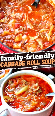 16 reviews · 65 minutes · Serves 6 · Don't always have the time to make cabbage rolls? This simple recipe is what you need! Packed with flavor and full of wholesome ingredients, this hearty soup is the perfect winter dinner. Its aroma… More Best Soup Recipes, Healthy Eating Recipes, Dinner Recipes, Cooking Recipes, Cookbook Recipes, Dinner Ideas, Dessert Recipes, Cabbage Roll Soup, Cabbage Rolls