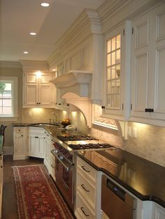Traditional Kitchen Black Countertops + White Cabinets Design, Pictures, Remodel, Decor and Ideas - page 7