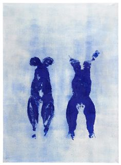 YVES KLEIN Anthropométrie (ANT (Anthropometry [ANT 1960 Pigment and binding agent on paper, mounted on canvas 79 x 58 inches x cm Contemporary Art Daily, Contemporary Artists, Modern Art, International Klein Blue, Nouveau Realisme, Pop Art, Yves Klein Blue, Art Informel, Georges Pompidou