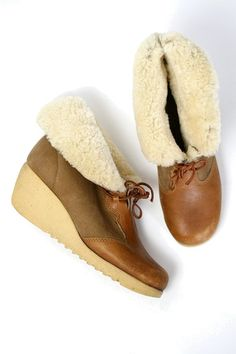 cuddley wedge ankle booties