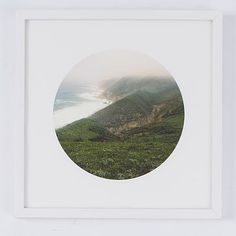Minted for west elm - Ocean + Fog #westelm e111 (Nice framing idea, could use with other circles)