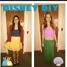 Ariel and Snow White costumes