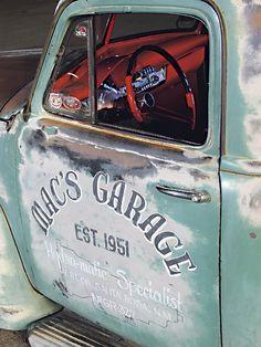 Mac's Garage Door Art