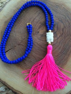Blue Necklace. Long Beaded Necklace. Grey tassel Necklace. Owl bohemian necklace. Summer Necklace    This seasons MUST HAVE necklace!!Cobalt Beaded Tassel Necklace, Bohemian Necklace, Tassel Jewelry, Statement Jewelry, Jewelery, Beaded Jewelry, Jewelry Box, Summer Necklace, Blue Necklace
