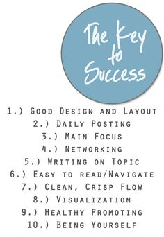 The Key to Successful #Blogging