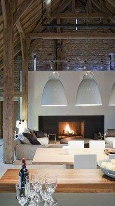 The LuxPad, 2016 Interior Design Trends: Top Tips From the Experts room design - cosy, pendant lights, white lights, barn insiration, interirs