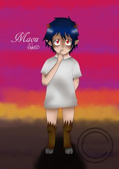 Young Maou from The Devil is a part  timer! i really like this anime and follow the manga. i think its unique in more that one way and i think the concept is funny. This picture's idea came from a script for one of the volumes of the manga that isn't out and probably won't be for a while.