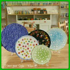Punkt  oder Netz oder Streusel/ Konfetti oder Blubberblasen - > vieles ist bei uns möglich!  Keramik selber bemalen bei  Paint your Style - Wien 15    Wie es funktioniert zeigen wir dir gerne!  Kreative Auszeit