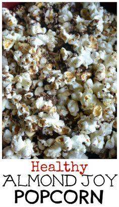 Healthy Almond Joy Popcorn. A fun kind of low calorie snack