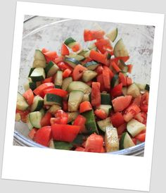 Simply Weight Watchers Recipes: Cucumber Tomato Salad