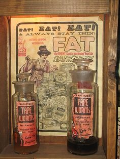 Tapeworms as a diet aid  The tapeworm diet got its start in the Victorian era when wealthy fashionistas began to look for ways to string those corsets tighter and tighter. Later, this weight loss method picked up steam in the 1920′s when Flappers started to look for ways to get rid of curves.