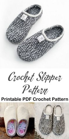 Make a cozy pair of knit look slippers. slipper crochet patterns – crochet patte… Make a cozy pair of knit look slippers. slipper crochet patterns – crochet patte…,Socks Make a cozy pair of knit. Crochet Boots, Knit Or Crochet, Crochet Crafts, Crochet Clothes, Crotchet, Knitted Slippers, Slipper Socks, How To Crochet Slippers, Knit Slippers Free Pattern