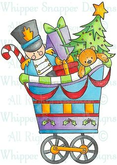 Christmas Cart - Fall/Winter 2013 - Rubber Stamps - Shop