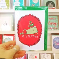 New Christmas Cards in by @katieabey! #mistletoad #christmascard #justacard #nottingham #shoplocal
