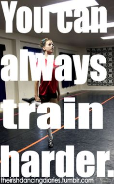 There is always someone out there training harder than you. just get out there and do it...