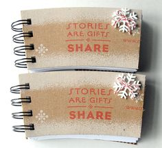 STARBUCKS Christmas Holiday SPIRAL NOTEPAD made out of Coffee Sleeves