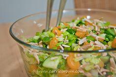 Mandarin Orange and Almond Salad | Marmalade and Mileposts