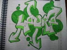 Resultado de imagen para nombre laura en graffiti 3d