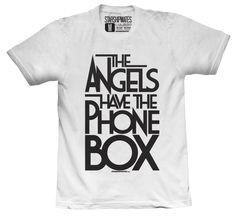 The Angels Have The Phone Box T-shirt Black/White. $24.65, via Etsy.
