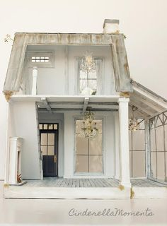 Cinderella Moments: Under Paris Roofs Custom Dollhouse Victorian Dollhouse, Dollhouse Dolls, Woodworking Projects Diy, Woodworking Plans, Diy Doll Miniatures, Cinderella Moments, Miniature Houses, Mini Houses, Miniature Dollhouse
