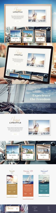 Nautical color palette - really matches those striking photos. #webdesign #photography #colorpalette
