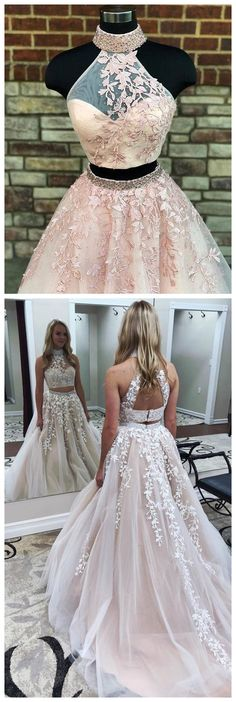 #2piecespromdress #2piece #2pieces #twopieces #promdress #promdresses #hiprom #prom #GraduationDress #2018 #PartyDress #champagneprom #lace