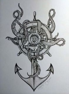 Awesome anchor tattoo (for daddy) tattoo пиратская татуировка, морское тату, Tattoo Sketches, Tattoo Drawings, Body Art Tattoos, Maori Tattoos, Zodiac Tattoos, Flame Tattoos, Tatoos, Arrow Tattoos, Forearm Tattoos