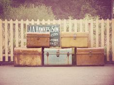 Suitcases, vintage, photography