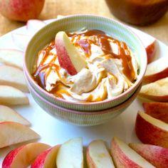 Caramel Peanut Butter Apple Dip