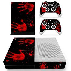 Pandaren Xbox One S / Slim Console Full Skin Sticker Faceplates(BloodyPalm Console Skin X 1   Controller Skin X 2) * Want additional info? Click on the image.