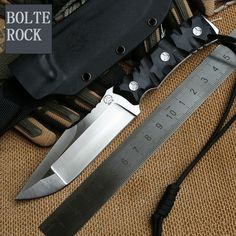 69.19$  Watch more here - http://aiavu.worlditems.win/all/product.php?id=32680370467 - New Bolte ROCK Fixed D2 Blade Knife Survival Knives Hunting Tactical Knifes G10 Handle With Kydex Sheath Camping Outdoor Tools