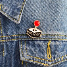 Arts,crafts & Sewing Badges Enamel Clothing Collar Pins Alloy Brooch Extraterrestrials Jeans Handbag Brooches Metal Badges On Backpack