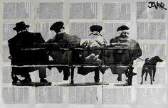 Loui Jover es un artista con sede en Queensland, Australia. trabaja sobre todo con tinta sobre sobre las páginas de libros o impresos...