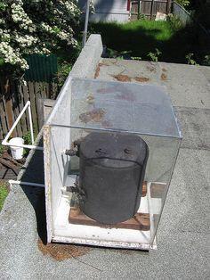 DIY solar hot water tank