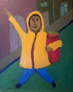"""""""¡Taxi!"""" (Acrílico/canvas, 2014) Artista Carlos Osorio Granado"""