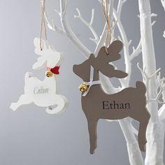 personalised reindeer decoration by seahorse | notonthehighstreet.com