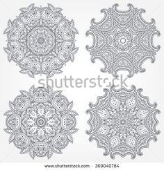 Set of Mandalas Coloring Illustration. Vintage decorative elements. Oriental pattern, vector illustration. Islam, Arabic, Indian, Turkish, Pakistan, Chinese, Ottoman motifs