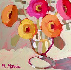 "FEELS LIKE LOVE; Acrylic on Panel; 8"" x 8""; by Melanie Morris SOLD"