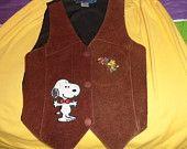 kid's vintage Snoopy leather vest