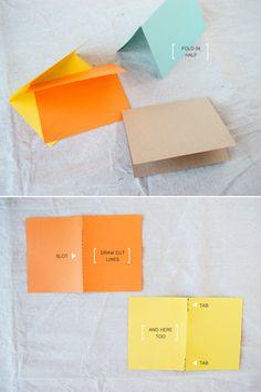make it folded notebook - time 30 min. Paper Crafts Origami, Diy Paper, Diy Journal Books, Journals, Homemade Books, Scrapbooking, Diy Notebook, Camping Crafts, Book Binding