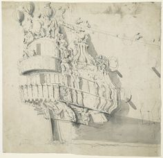 The stern of the 'Hampton Court' - National Maritime Museum