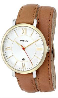 #Fossil Women's ES3550 Jacqueline Analog Display Analog Quartz Brown #Watch