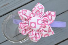 pink and purple flower headband by YeauxYeauxBows on Etsy, $12.00