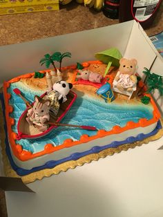 Calico Critter Pool Party Cake