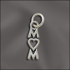 Sweet Sterling Silver charm to show how much you love her!