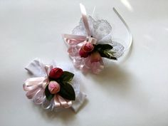 Çiçekli+Lohusa+Tacı+Bebek+Saçbandı